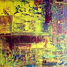 Richter Style Original Abstract Canvas Painting For Sale by Darryl Green