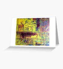 Richter Style Original Abstract Canvas Painting For Sale Greeting Card
