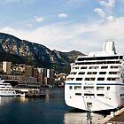 Ship in the Port of Monaco by GOSIA GRZYBEK