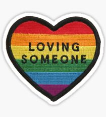Loving someone heart patch Sticker