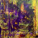 Abstract Original Purple Oil Painting Available  by Darryl Green