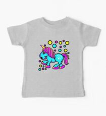Unicorn Colour Blue and Pink  Baby Tee