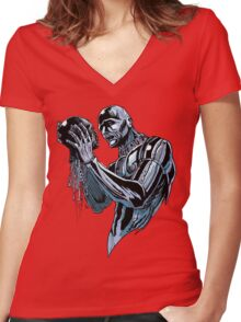 Sci Fi Tragedy Women's Fitted V-Neck T-Shirt