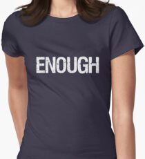 Enough - Walkout Protest Women's Fitted T-Shirt