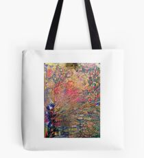 Tree of Lights Abstract painting Tote Bag