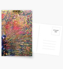 Tree of Lights Abstract painting Postcards