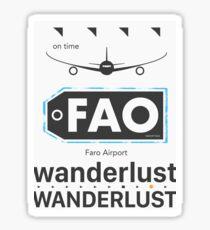 FAO Faro airport Portugal Sticker