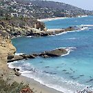 California Beach Scene With Natural Arch by Darryl Green