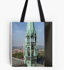 View of Prague From Above The City Tote Bag