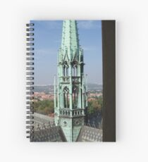 View of Prague From Above The City Spiral Notebook