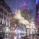 Gastown Vancouver Snow by Luke Baker