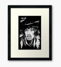 Jimmy in Black and White Framed Print