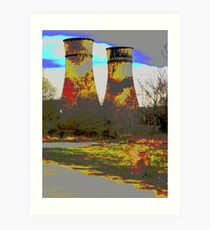 Tinsley Cooling Towers Warhol style Art Print