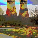 Tinsley Cooling Towers Warhol style by sidfletcher