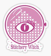 Stitchery Witch embroidery cross stitch mystic eye Sticker