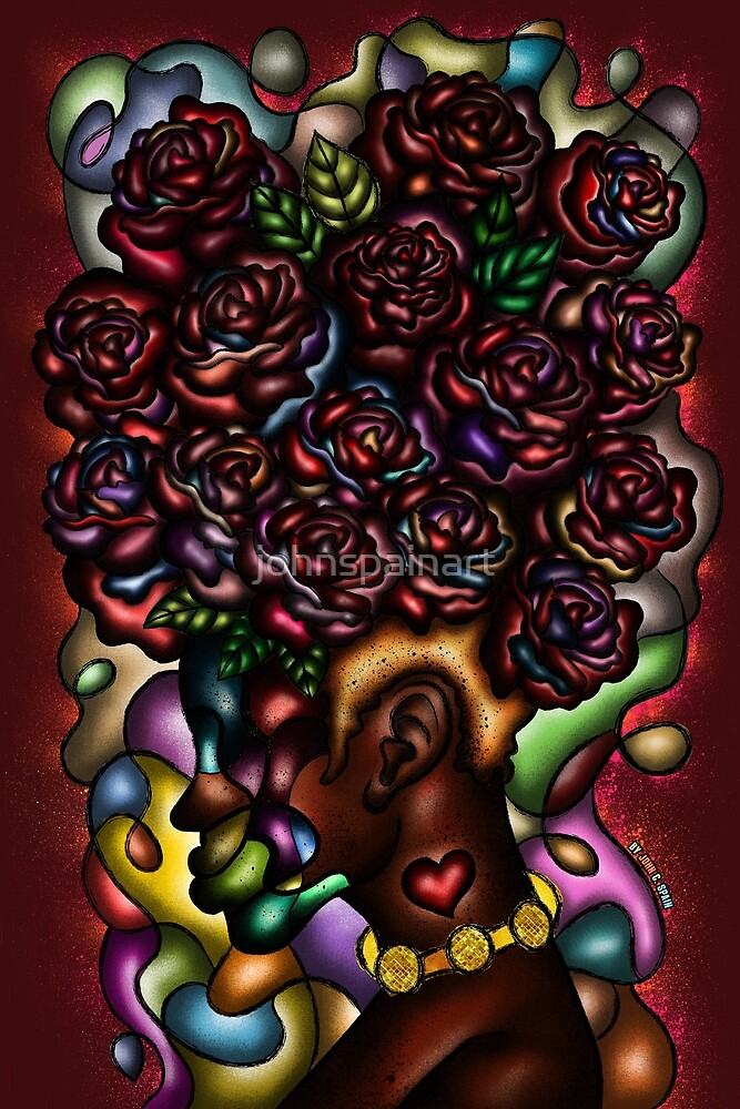 Abstract Roses 2 (Alternative)  by johnspainart