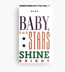 EBTG Baby, die Sterne leuchten hell Metallbild