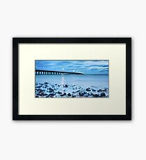 Blue Pier Bay Framed Print