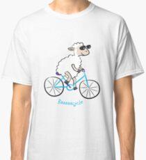 sheep biking happily in slow speed Classic T-Shirt