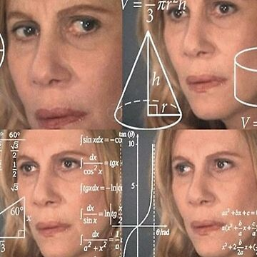 Mathe verwirrte Dame Meme von hocapontas