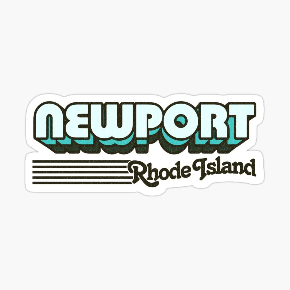 Newport, Rhode Island   Retro Stripes Sticker
