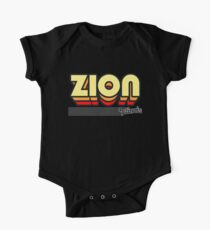 Zion, Illinois | Retro Stripes One Piece - Short Sleeve