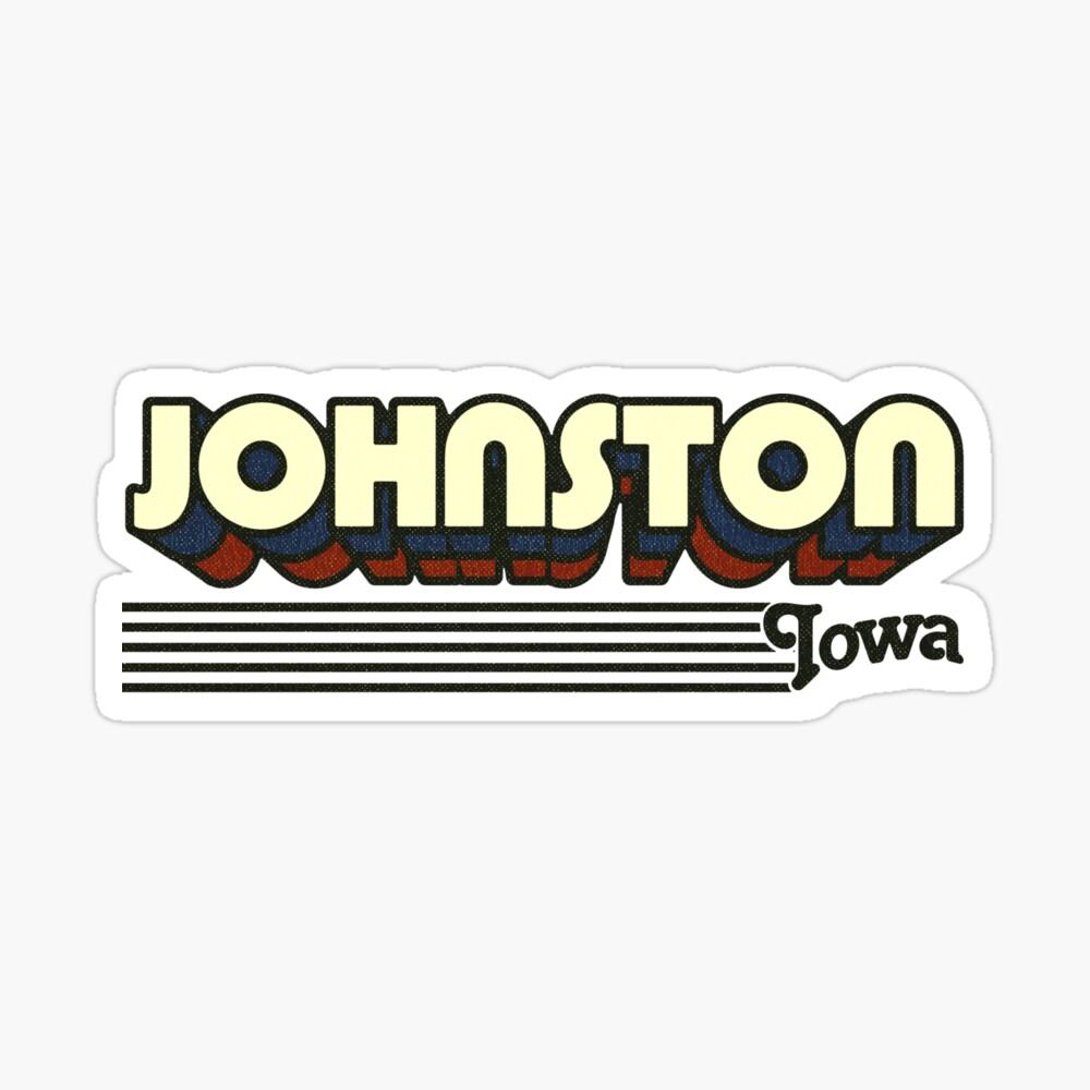 Johnston, Iowa | Retro Stripes Sticker