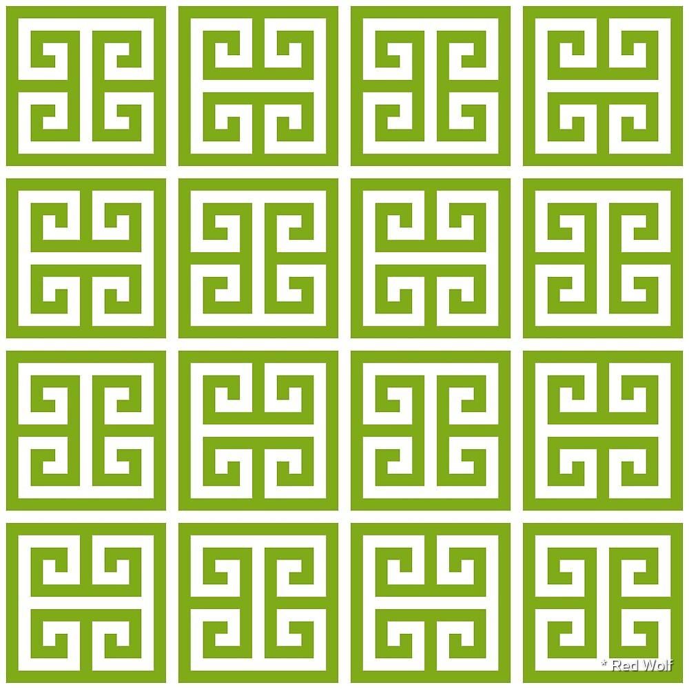 Geometric Pattern: Key Bridge Alternate: Green by * Red Wolf