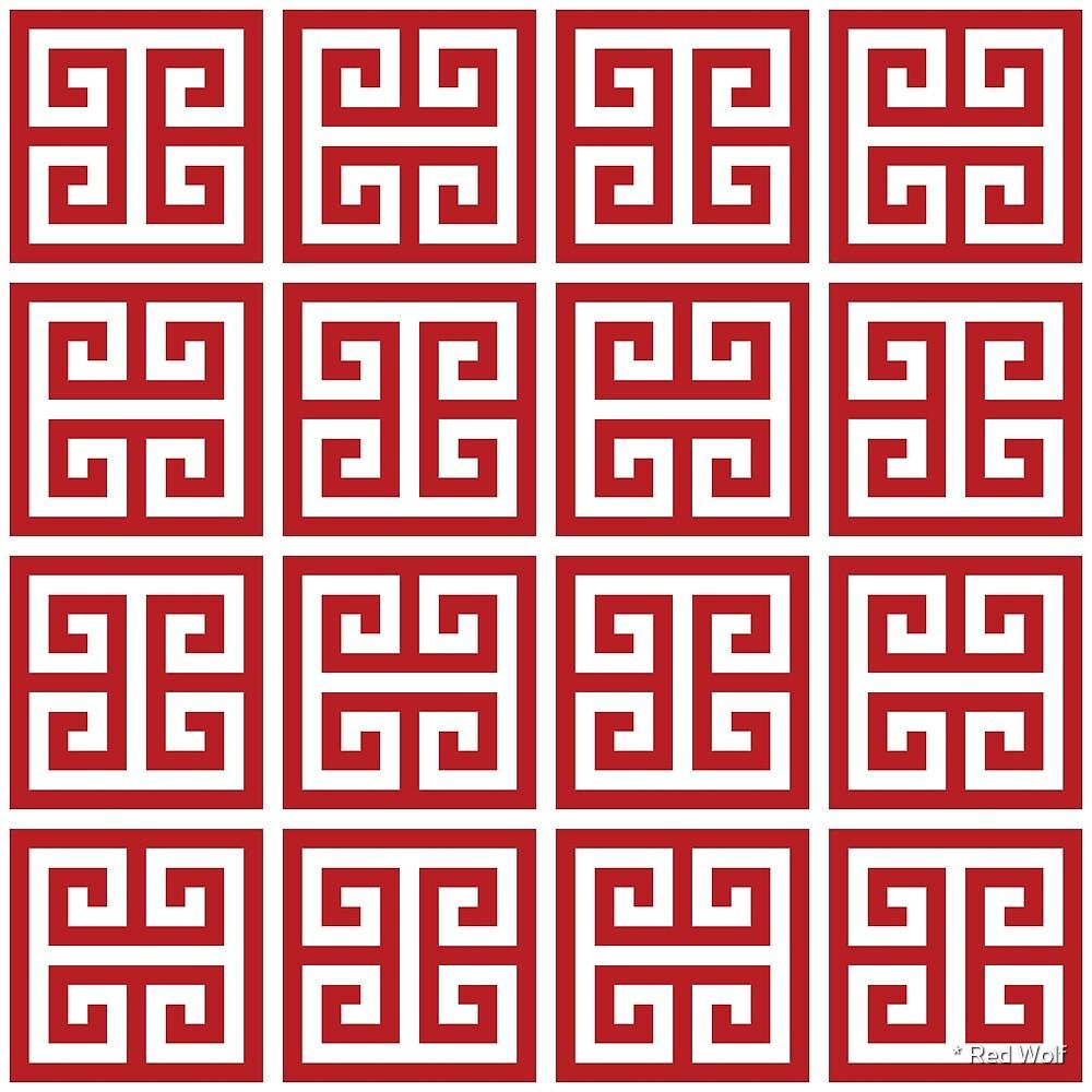 Geometric Pattern: Key Bridge Alternate: Red by * Red Wolf