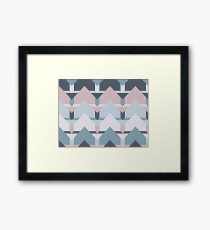Scandi Waves #redbubble #scandi #pattern Framed Print