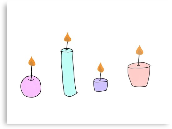 Tumblr Candle Drawing Color Metal Prints By Simonsdesign Redbubble