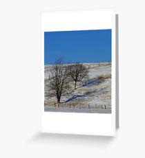 Blue Shadow - Blue Shadow Greeting Card