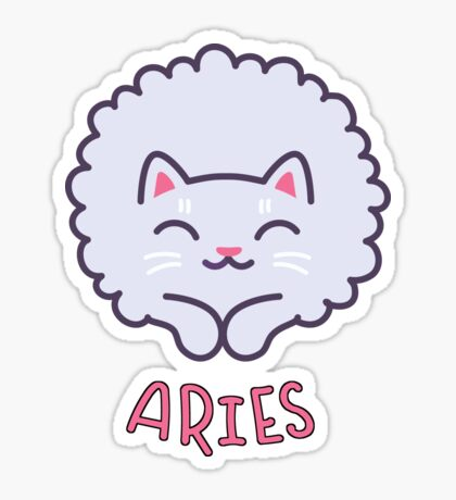 Funny Aries Cat Horoscope Tshirt - Astrology and Zodiac Gift Ideas! Sticker