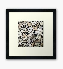 Puzzle Jigsaw Pieces Framed Print