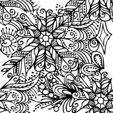 Zentangle flowers by claracooper