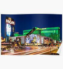Las Vegas Strip Lights - MGM Grand - Bright and Colorful Poster