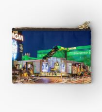 Las Vegas Strip Lights - MGM Grand - Bright and Colorful Studio Pouch