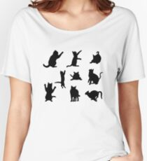 Cat Silhouette Women's Relaxed Fit T-Shirt