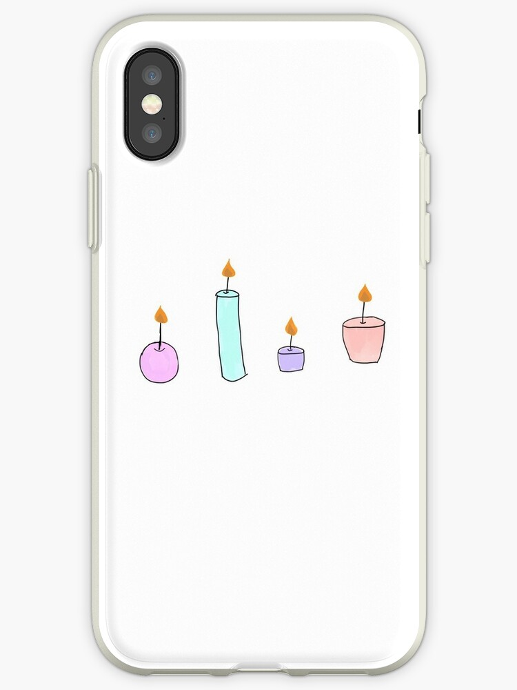 Tumblr Candle Drawing Color Iphone Cases Covers By Simonsdesign