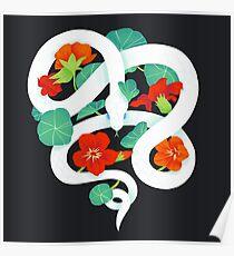 nasturtium snake Poster