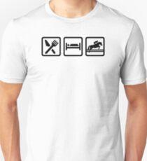Eat sleep show jumping Unisex T-Shirt