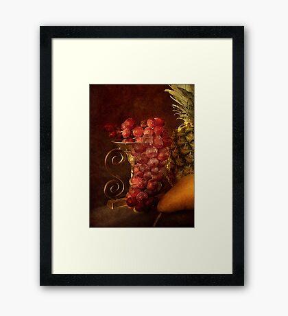Emperor Grapes Framed Print