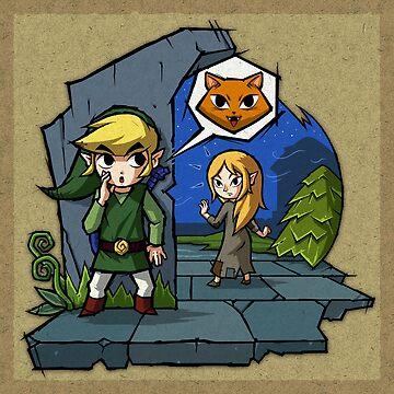 Zelda Wind Waker Meow by Purrdemonium