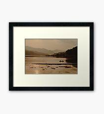 One Golden Evening on Phewa Lake Framed Print