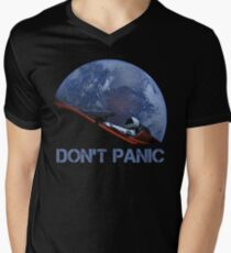 NICHT PANIK Starman T-Shirt mit V-Ausschnitt für Männer