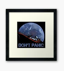 DON'T PANIC Starman Framed Print