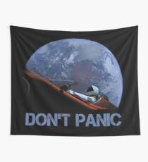DON'T PANIC Starman Wall Tapestry