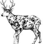Flower Tattooed Deer illustration by Linn Warme