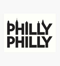 Philly Philly Skyline Art Print