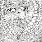 Hearts Face by Sandra Gray